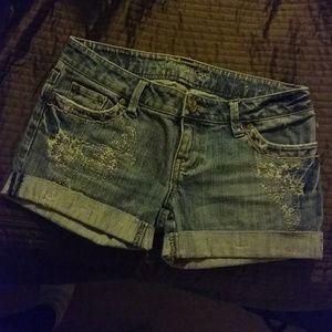 Stretch Skinny Flare Shorts